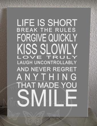 Life is short ( strakke variant )