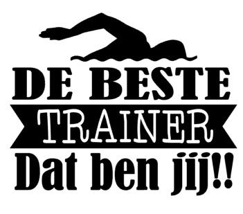 De beste trainer dat ben jij (zwemmen)