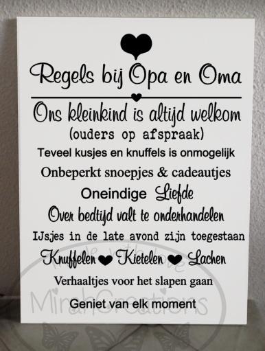 Regels bij Opa en Oma (kleinkind)