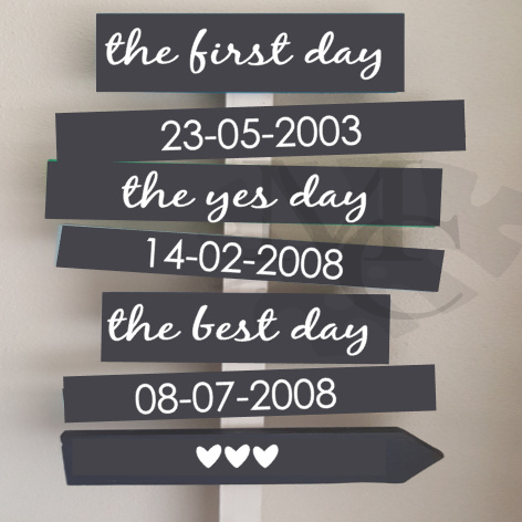 Stickers: first yes best day (tbv. sign bord)
