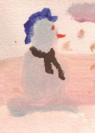 Sneeuwpop enkele kaart