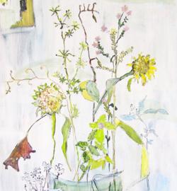 Schilderij boeket bloemen