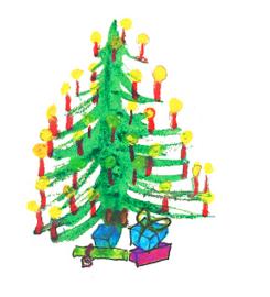 Denneboom Dubbele kaart met enveloppe
