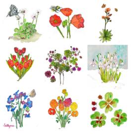 Set van lentekaarten