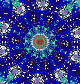 Mandala nachtblauw Dubbele kaart met enveloppe