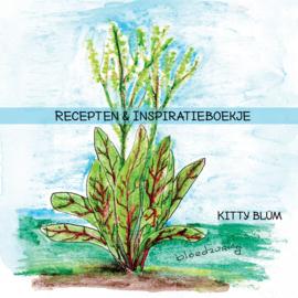 Inspiratie en receptenboekje met ringbandje (20 recepten van 20 verschillende kruidenplanten, 14 bij 14 cm)