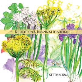 Inspiratie en receptenboekje met ringbandje(20 recepten van 20 verschillende kruidenplanten, 14 bij 14 cm)