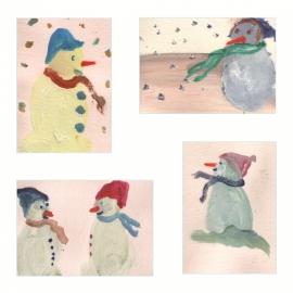 Sneeuwpoppen Dubbele kaart met envelop