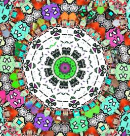 Mandala met Huisjes Dubbele kaart met enveloppe