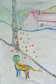 Gjereseter Schilderij olie op doek ingelijst 40 bij 20 cm