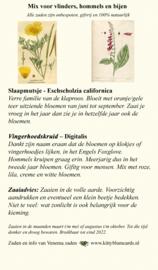 Zakje zaden voor bijen en vlinders Slaapmutsje en Digitalis