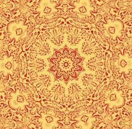 Mandala goudgeel Dubbele kaart met enveloppe