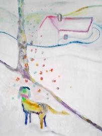 Gjereseter Noorwegen Schilderij olie op doek ingelijst 40 bij 20
