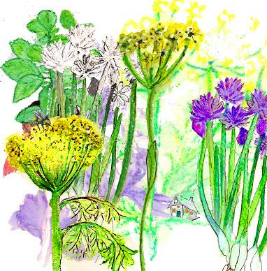 Tuin (Dubbele kaart met enveloppe en wilde bloemenzaadjes mix)