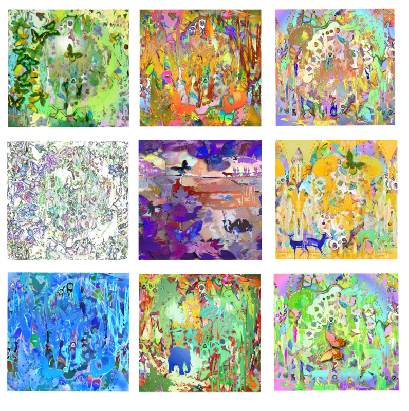 Vlinderkaartserie 9 verschillende kaarten van elk 6 stuks