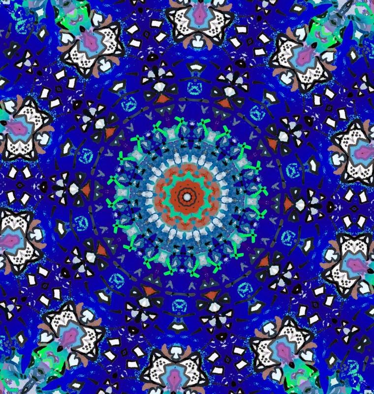 Mandala nachtblauw 3