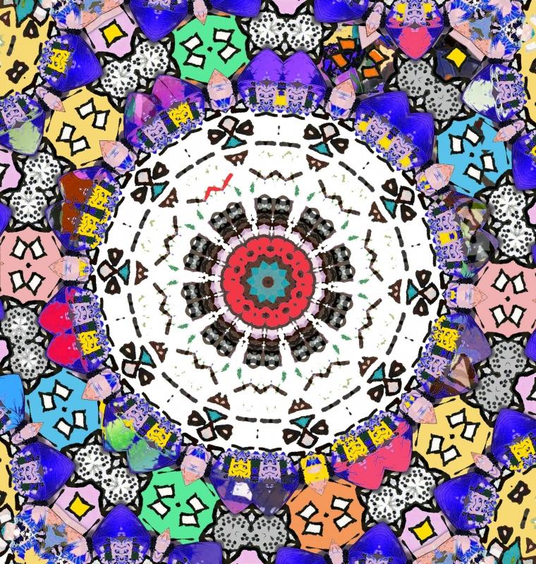 Mandala met huisjes 2