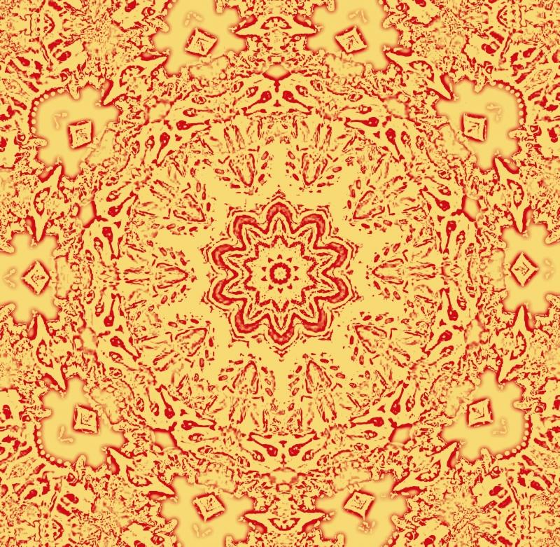 Mandala goudgeel 1