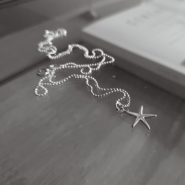 Tiny Starfish Necklace - 925 Silver