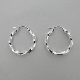 Vintage Twisted Earring - 925 Silver