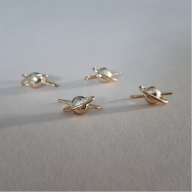 Saturn Earring Climber - 925 Gold