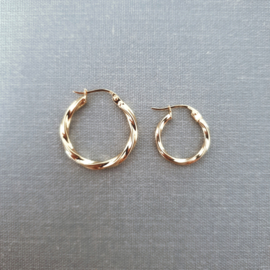 Vintage Twisted Earring Small - 925 Gold