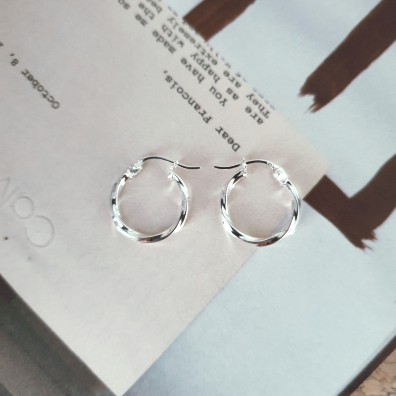 Vintage Twisted Earring Small - 925 Silver