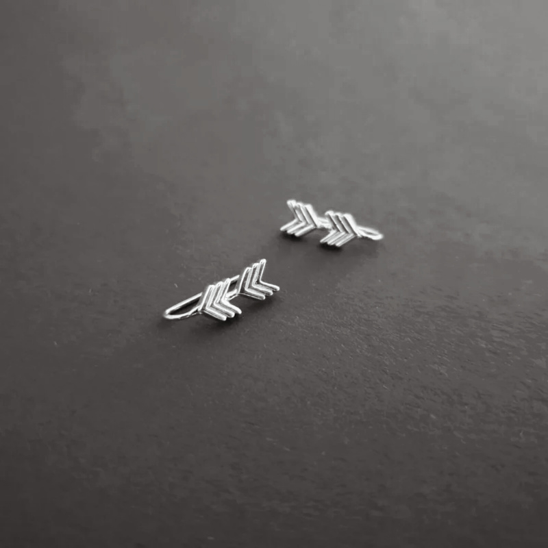 Arrow Earring Climber -  925 Silver