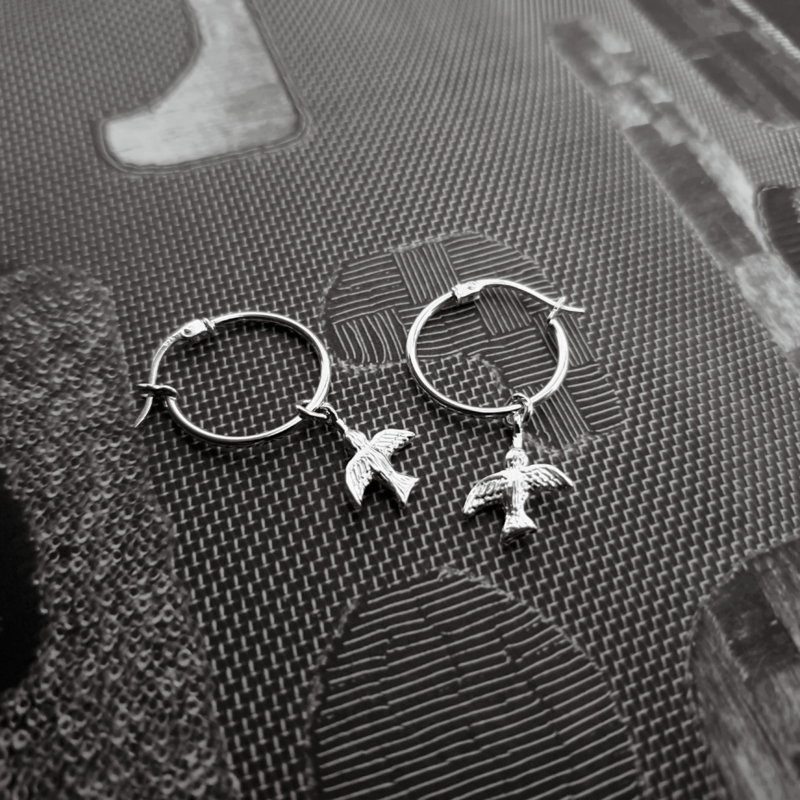 Swallow Earring - 925 Silver