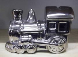 locomotief spaarpot verchroomd c19-1