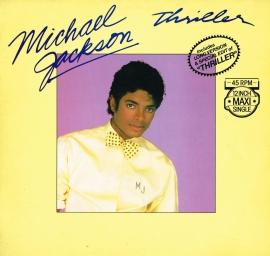michael jackson - thriller 45 rpm 12 inch maxi singel