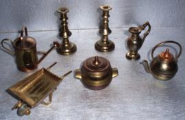 miniatuur setje in koper uitvoering