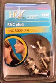 hq bnc plug rg 59 2 x
