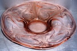 oude glazen fruitschaal