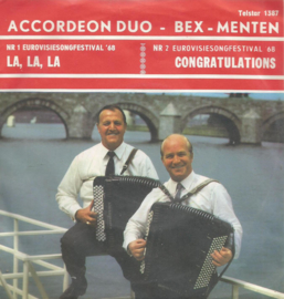 accordeon duo bex menten - la,la,la & congratulations