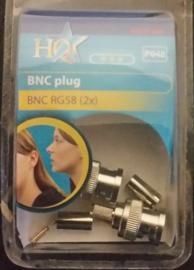 hq bnc plug rg 58 2 x