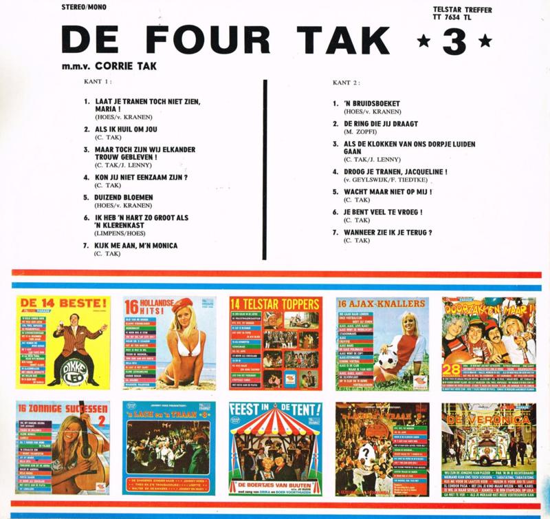 Ik Heb Een Hart Zo Groot Als Een Klerenkast.De Four Tak Deel 3 Vinyl Nederlands 12 Inch Wij Van