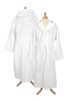 witte badjas met capuchon L/xl