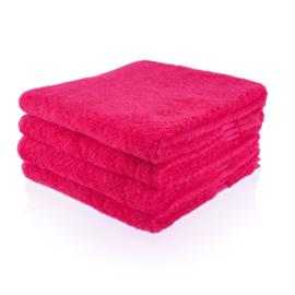 Fuchsia handdoek 50 bij 100 cm