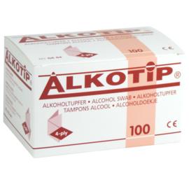 ALCOHOLDOEKJES - 90mm x 110mm individueel verpakt 100 stuks