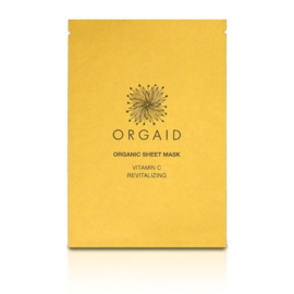 ORGAID ORGANIC | SHEET MASK  VITAMIN C & REVITALIZING
