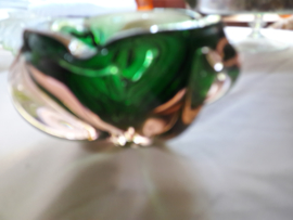 Val Saint Lambert kristallen asbak in warme kleuren