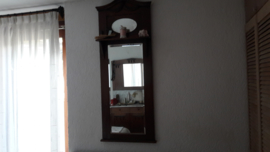 Antieke Engelse spiegel met geslepen glas