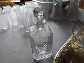 Kristallen waaier geslepen whisky karaf met stop
