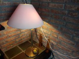 Antieke messing lamp met 2 lichtpunten en de kap kan draaien
