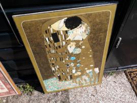 Poster van een schilderij van Klimt in mooie lijs