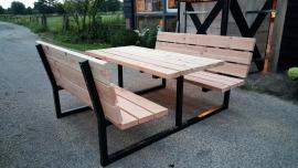 Picknicktafel model 4 metalen stalen onderstel frame