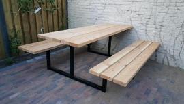 Picknicktafel model 2 metalen stalen onderstel frame