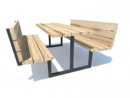 Picknicktafel model 3 metalen stalen onderstel frame