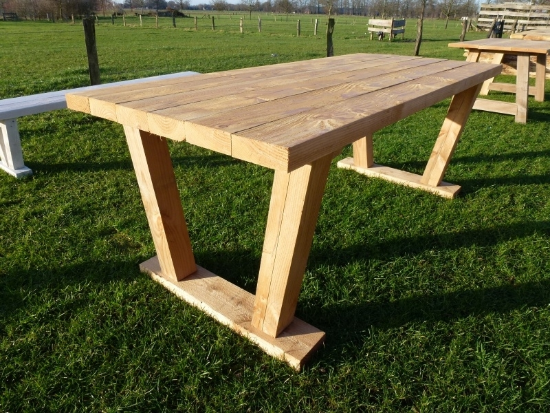 Wonderlijk stevige douglas tuintafel model ''industriële tafel'' | Tafels | FEMOR IN-55